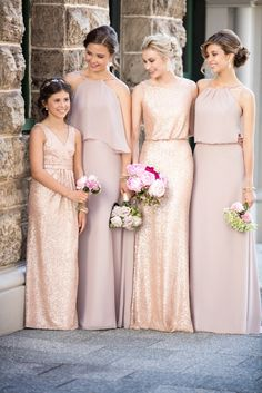 Sorella Vita Vintage Rose and Sequin Bridesmaid Dresses