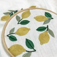 #embroidery #lemons