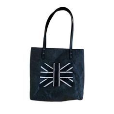 Eco Friendly Bags, Union Jack, Handmade Bags, Sustainable Fashion, Reusable Tote Bags, Leather, Shopping, Accessories, Black