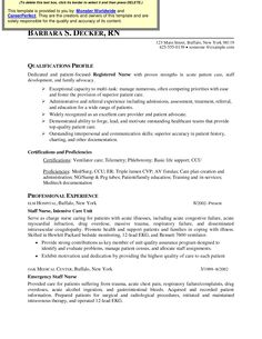 icu rn resume examples httpwwwjobresumewebsiteicu