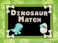 Dinosaur Place Value Matching