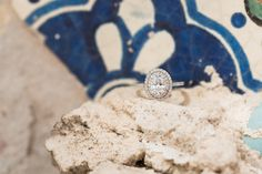 Oval Cut Ring Shot | Philadelphia Magic Gardens Engagement Session | Philadelphia Wedding Photographer | Rachel and Andy