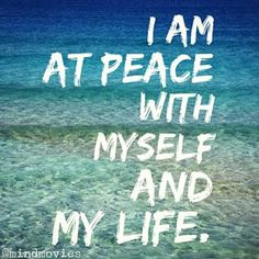 ✨I am at #peace with myself and my life.✨  http://www.mindmovies.com/successblocker/index.php?26919 #mantra #affirmation