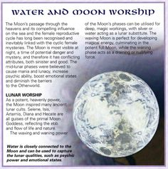 Water & Moon. Be near water for emotional stability.