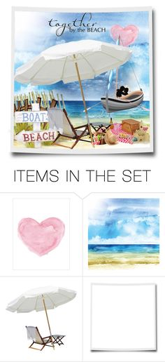 """""""Together bu the beach"""" by no-where-girl ❤ liked on Polyvore featuring art"""