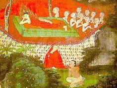 พุทธประวัติ ๑๐.พระโมคคัลลานะปรินิพพาน Buddha Painting, Art, Kunst, Art Education, Artworks