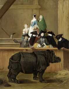 Clara the Rhinoceros by Pietro Longhi, 1751. The zoo in Venice was located where currently the Biennale takes place.