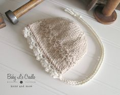 The Victorian Harper Bonnet in two tones.She's knitted with undyed eco alpaca that is eco friendly and unbelievably soft. Detailed front edging in Cream with your choice of main color. Baby Knitting, Crochet Baby, Knit Crochet, Toddler Photography, Photography Props, Knitted Baby Outfits, Just Because Gifts, Hat Making, Baby Hats
