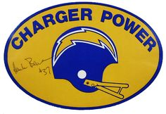 70's 80's Charger Power Sticker - San Diego Chargers