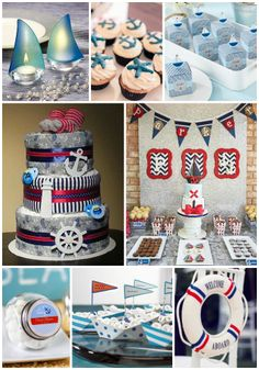 Welcome the baby on board with a cute nautical themed baby shower!