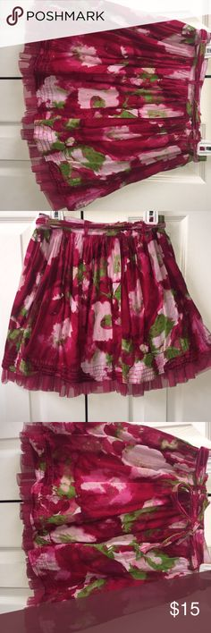 Skirt water colored skater skirt with a ribbon that's tied in a bow in the back GAP Bottoms Skirts