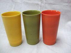 Vintage Tupperware Tumbler Set in Retro 70s Colors by trudysattic, $10.00