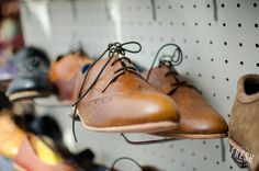 Diomande hand-made leather shoes. You can get these custom-made as well if you like! Find them at the Neighbourgoods Market in Cape Town.