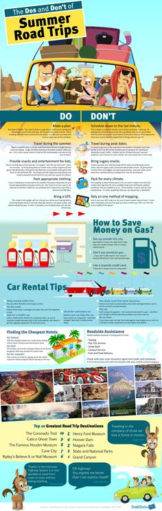 The Dos and Don't of Summer Road Trips #Infographic