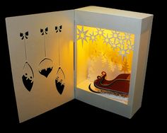 My SVG HUT: Santa Surprise Shadow Box LanternAssembly instruct...