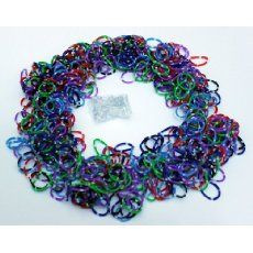 Loom Rubber Bands - 600 Loom Band Refill Rainbow Colors Variety Value Pack with 24 Loom Bands S Clips - 100% Compatible with All Looms:Amazon:Toys & Games