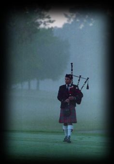 Scottish bagpiper in the mist. The bagpipe brings chills to my body with its hauntingly beautiful sound.
