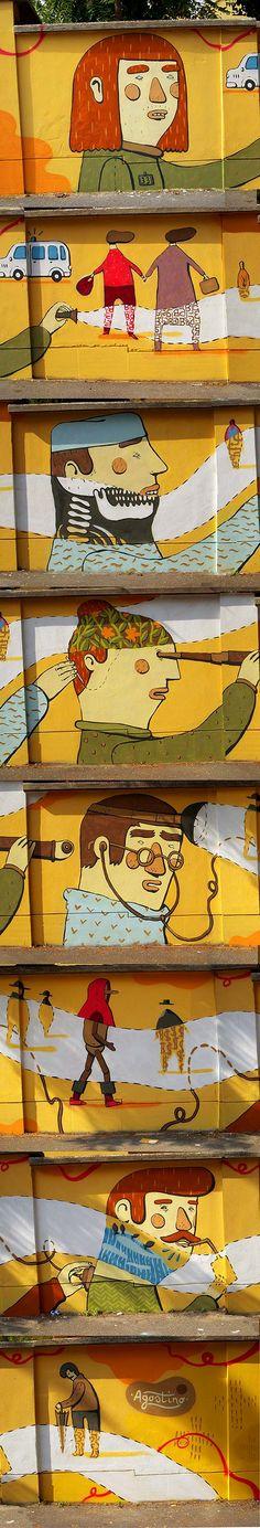 Arte urbano. Muros ilustrados con AGOSTINO IACURCI - Colectivo Bicicleta | Revista digital/Artes visuales. ilustración y diseño Colombia y L...
