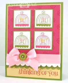 Mojo Monday/Color Throwdown - Thinking of You by justbehappy - Cards and Paper Crafts at Splitcoaststampers