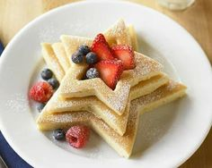 Fancy - Stack & Fill Star Pancake Molds, Set of 3 Food Porn, Fourth Of July Food, July 4th, Good Food, Yummy Food, Party Decoration, Dessert Recipes, Desserts, Pancake