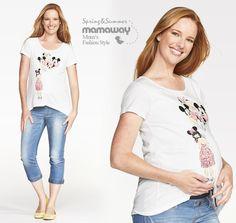 Mamaway - Maternity wear, Breastfeeding wear, Nursing wear - Disney Mickey & Minnie Balloons Maternity and Nursing Top $49.95