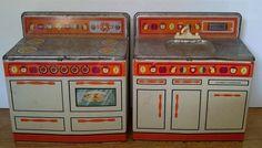 Vintage Wolverine Tin Kitchen Set Stove Sink