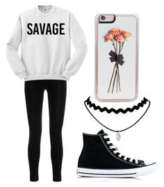 """""""Savage"""" by fangirlmendes on Polyvore featuring Balmain, Zero Gravity and Converse"""