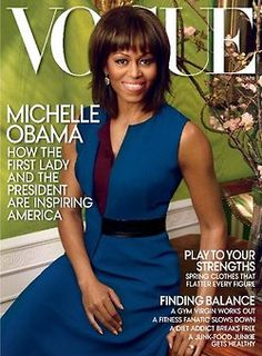 Michelle Obama graces the american Vogue's cover for the second time, shot by Annie Leibovitz for its april 2013 issue.