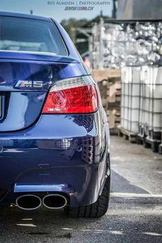 BMW E60 M5 blue