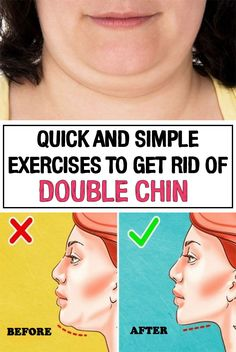 Want to get rid of the unsightly double chin? Here are some effective and simple exercises that can make your problem disappear.