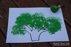 preschool broccoli craft - ค้นหาด้วย Google