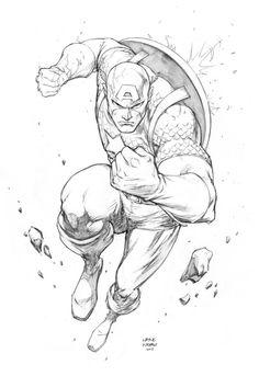 Captain America pencil sketch by FlowComa on @DeviantArt