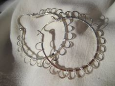 Sunflower Large Hoop Earring Wire Wrapped by SweetMintBoutique, $25.00