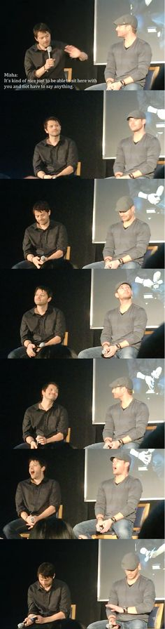 Jenson Ackles and Misha Collins everybody.