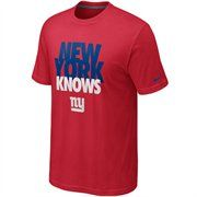 Nike New York Giants Knows Draft T-Shirt - Red