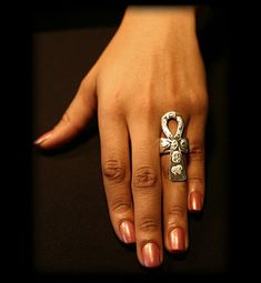 Ankh Ring Sterling Silver Afrocentric Jewelry by ULoveJewelry