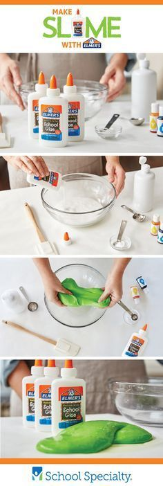 Make SLIME! Try this easy customizable slime recipe from Elmer's in your classroom!Try this easy customizable slime recipe from Elmer's in your classroom! Kids Crafts, Summer Crafts, Projects For Kids, Diy For Kids, Arts And Crafts, Slime No Glue, Diy Slime, Homemade Slime, Homemade Food