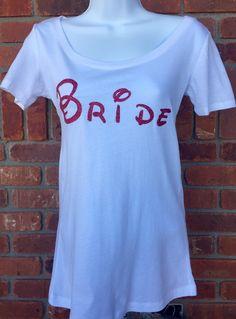 Disney Bride scoopneck Tshirt, Bride tshirt, wedding tshirt, bridal party tshirt, bride shirt, Mrs. Tshirt, wedding day shirt