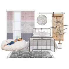 bedroom 1 by mfroeschke on Polyvore featuring interior, interiors, interior design, home, home decor, interior decorating, Big Joe and bedroom