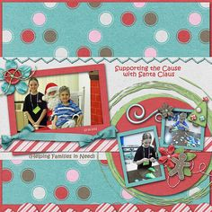 Supporting the Cause with Santa Claus Credits:  Everyday December (Full Kit + Alpha), Jen Yurko Font Used: Kristen ITC Available At:  http://scraptakeout.com/shoppe/Everyday-December-Full-Kit-Alpha.html