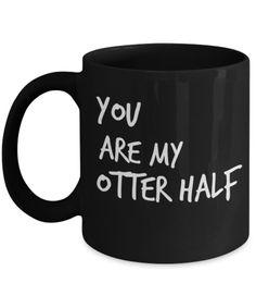 Boyfriend Anniversary Gifts - Boyfriend Gifts Mug - 11 Oz Mug - Black Mug - You Are My Other Half #boyfriendanniversarygifts