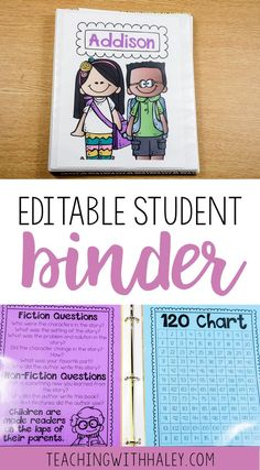 This editable binder is full of pages to send home, labels to use, and more to add to your take home binders. | student take home binder, elementary take home binder, take home binders for students, editable take home binder, take home binder for first grade, take home binder for 1st grade, student take home binder for parent communication, elementary parent communication