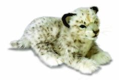 "Amazon.com: Lying Snow Leopard Cub 14"" by Hansa: Toys & Games"