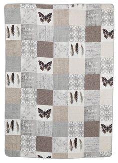 Pătură matlasată LUND 140x200cm petice