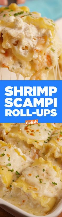 Shrimp Scampi Roll-Ups- you won't believe how easy it is to whip up these bundles of awesomeness from scratch.  Only a handful of ingredients and they'll be ready to pop in the oven in no time!