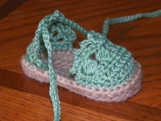 Baby Espadrille Sandals by BackPorchCrochet on Etsy, $9.50