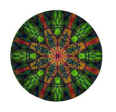 """3"""" Green Kaleidoscope Sticker by ElevatedAesthetics on Etsy etsy.com/shop/elevatedaesthetics"""