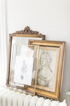 Behind the Scenes with Jess Blazejewski Fine Art | lark & linen photo by Ruth Eileen Photography #figurativeart #figuredrawing #vintageframe