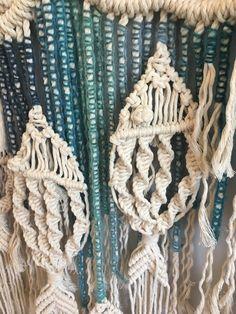 Macrame Fish Wall Hanging / Customizable Macrame Tapestry / Fish / Ocean /Fishing /Blue Ombre/Mobile /Beach House / Nursery / Boho/Over Bed - Macrame Macrame Fish Wall Hanging / Customizable Macrame Tapestry / - Macrame Design, Macrame Art, Macrame Projects, Macrame Modern, Woven Wall Hanging, Tapestry Wall Hanging, Tapestry Beach, Wall Hangings, Store Mobile