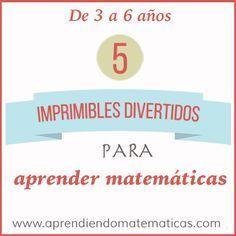 Con estos 5 imprimibles divertidos para aprender matemáticas los niños de 3 a 6 años podrán aprender de una forma manipulativa y creativa.